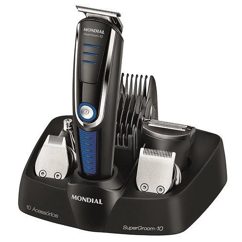 Aparador Mondial BG-03 10 em 1 barba cabeça bigode