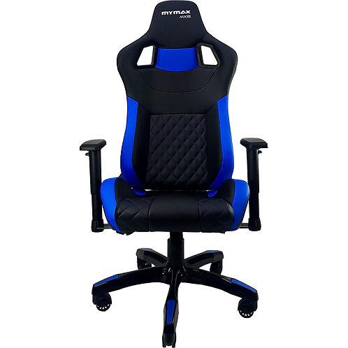 Cadeira Gamer mymax MX15 Giratoria Preto/Azul