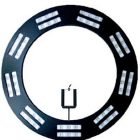 Iluminador Ring Light Padrão Led - Preto 48 cm + Tripe 1,50 Mtrs