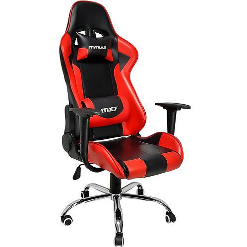 Cadeira Gamer MX7 Giratoria Mymax Preto/Vermelho