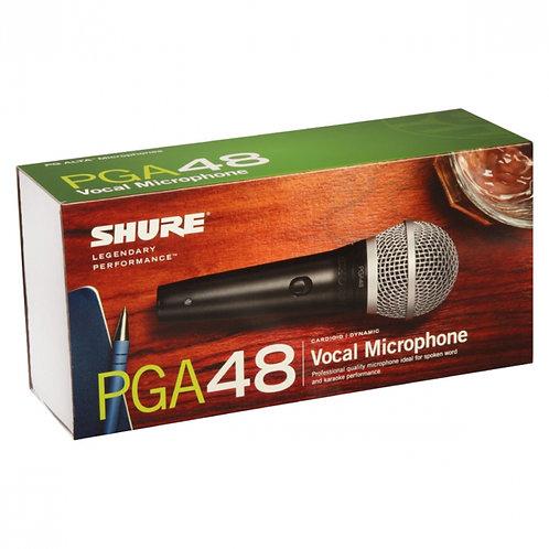 MICROFONE PROFISSIONAL VOCAL COM FIO SHURE PGA48