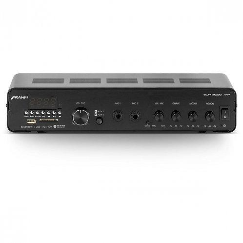 AMPLIFICADOR SLIM 3000 APP G2 200W USB/SD CARD, FM, BLUETOOTH CONTROLE REMOTO