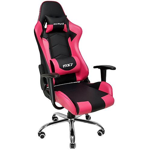Cadeira Gamer MX7 Giratoria Mymax Preto/Rosa