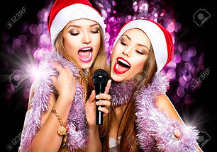 34192793-christmas-party-karaoke-beauty-