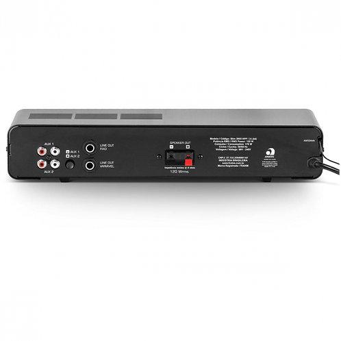 AMPLIFICADOR SLIM 2000 APP G2 120W USB/SD controle