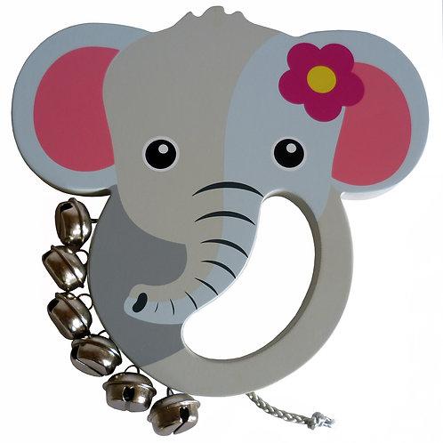 Elephant Wooden Hand Bell