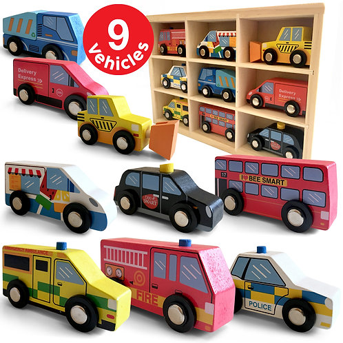 Wooden Vehicle Set