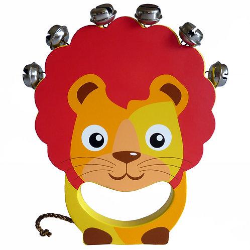 Lion Wooden Hand Bell