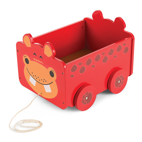 Hippo Pull Along Toy Box