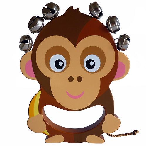 Monkey Wooden Hand Bell