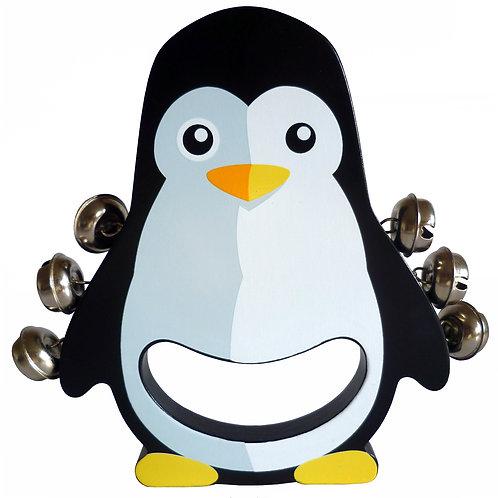 Penguin Wooden Hand Bell