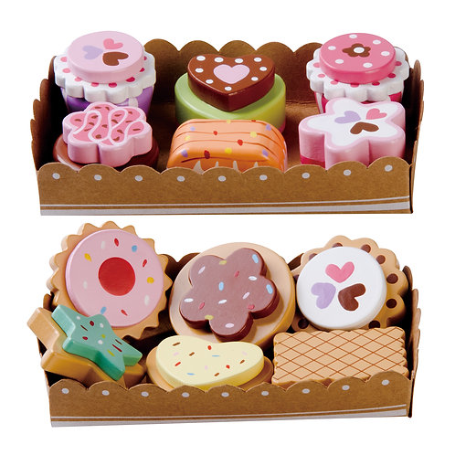 Wooden Cakes & Biscuits Set