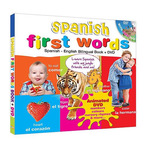Spanish for Kids First Words (Book & Bonus DVD)