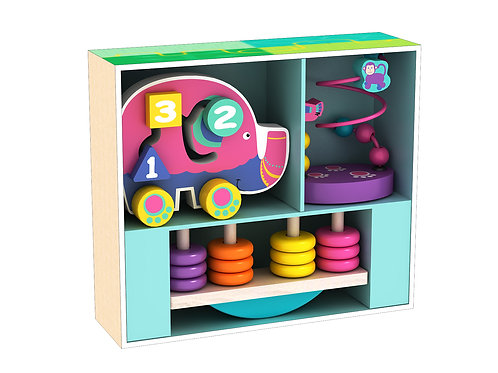 Wooden My First Counting Elephant Toy Set
