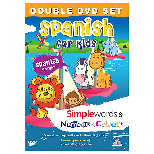 Spanish for Kids Double DVD Set