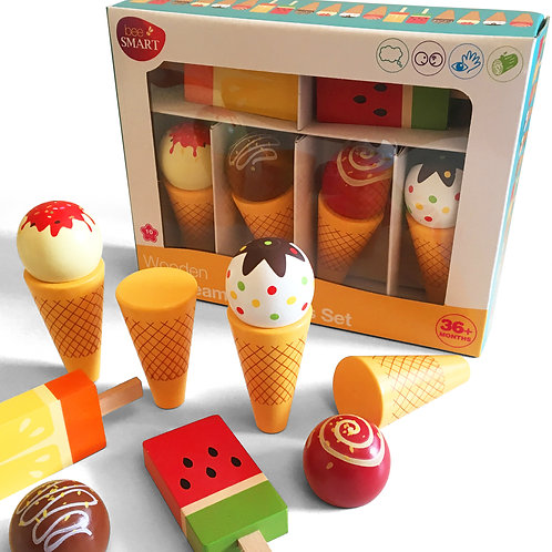 Wooden Ice Cream Set