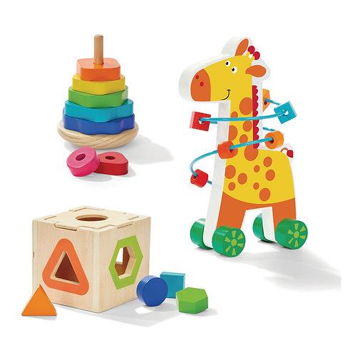 Wooden My First Shapes Giraffe Toy Set