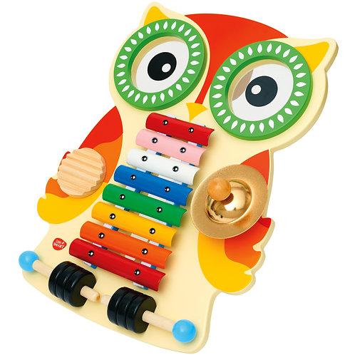 Wooden Owl Musical Set