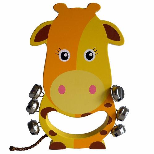 Giraffe Wooden Hand Bell