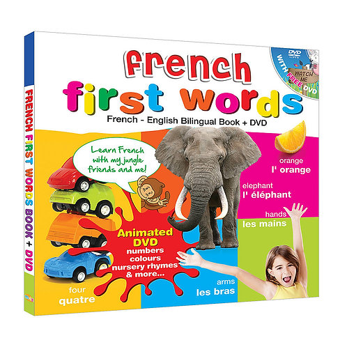 French for Kids First Words (Book & Bonus DVD)