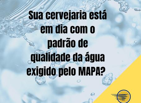 Sua cervejaria está em dia com o padrão de qualidade da água exigida pelo MAPA?