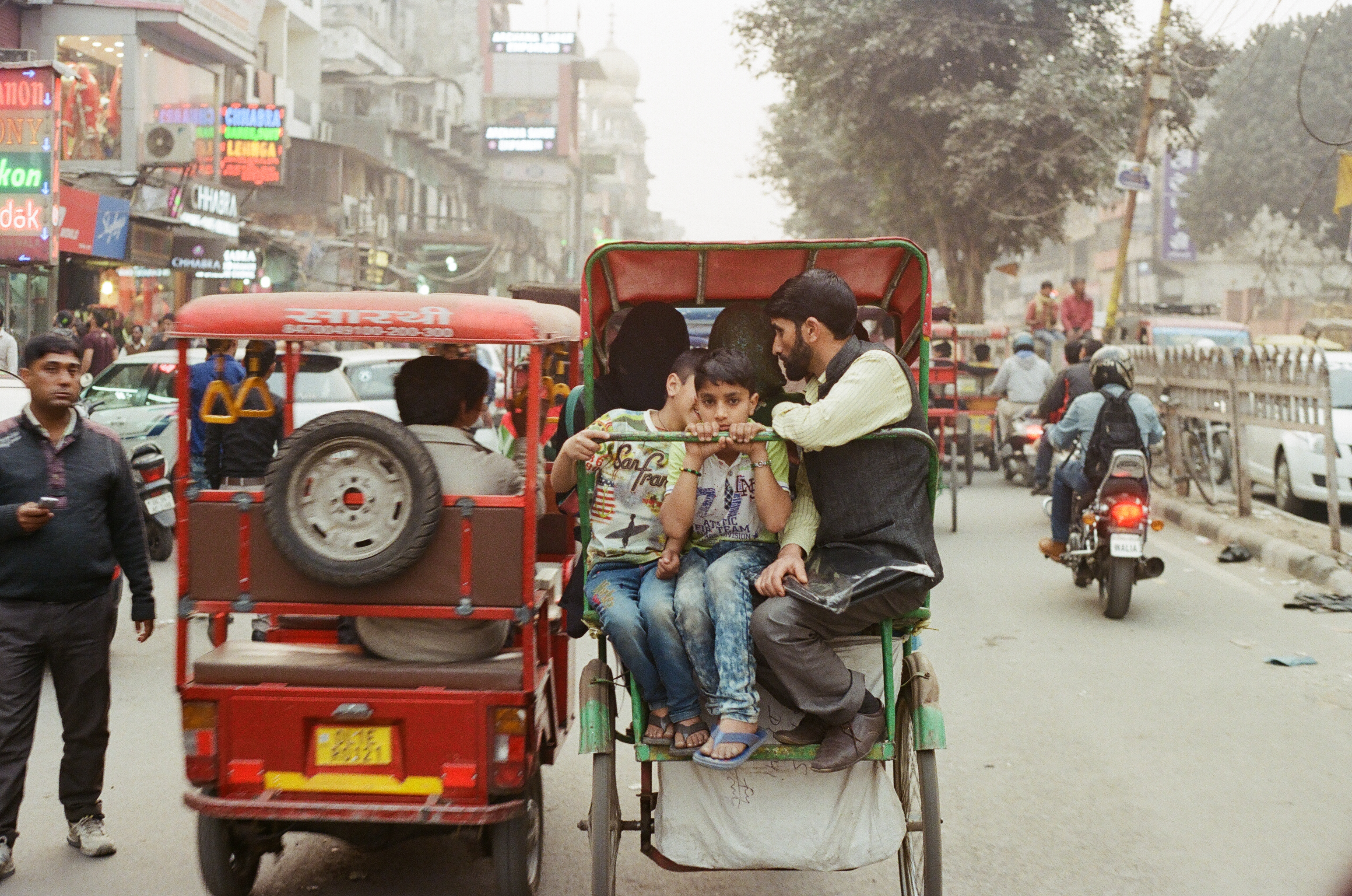 Rickshaw - Old Delhi, India