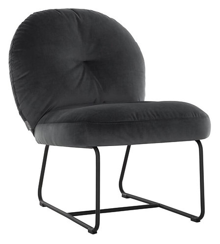MUST LIVING, Lounge Chair Bouton smooth dark grey