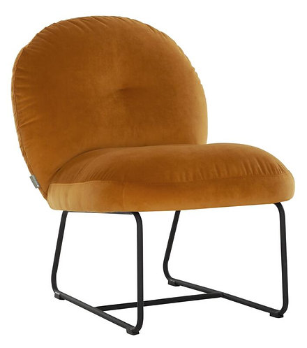 MUST LIVING, Lounge Chair Bouton smooth ochre