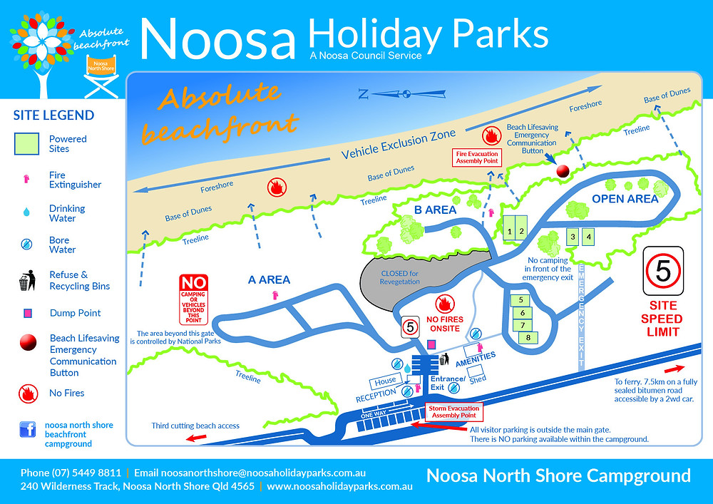 Map of Noosa North Shore Beach Campground