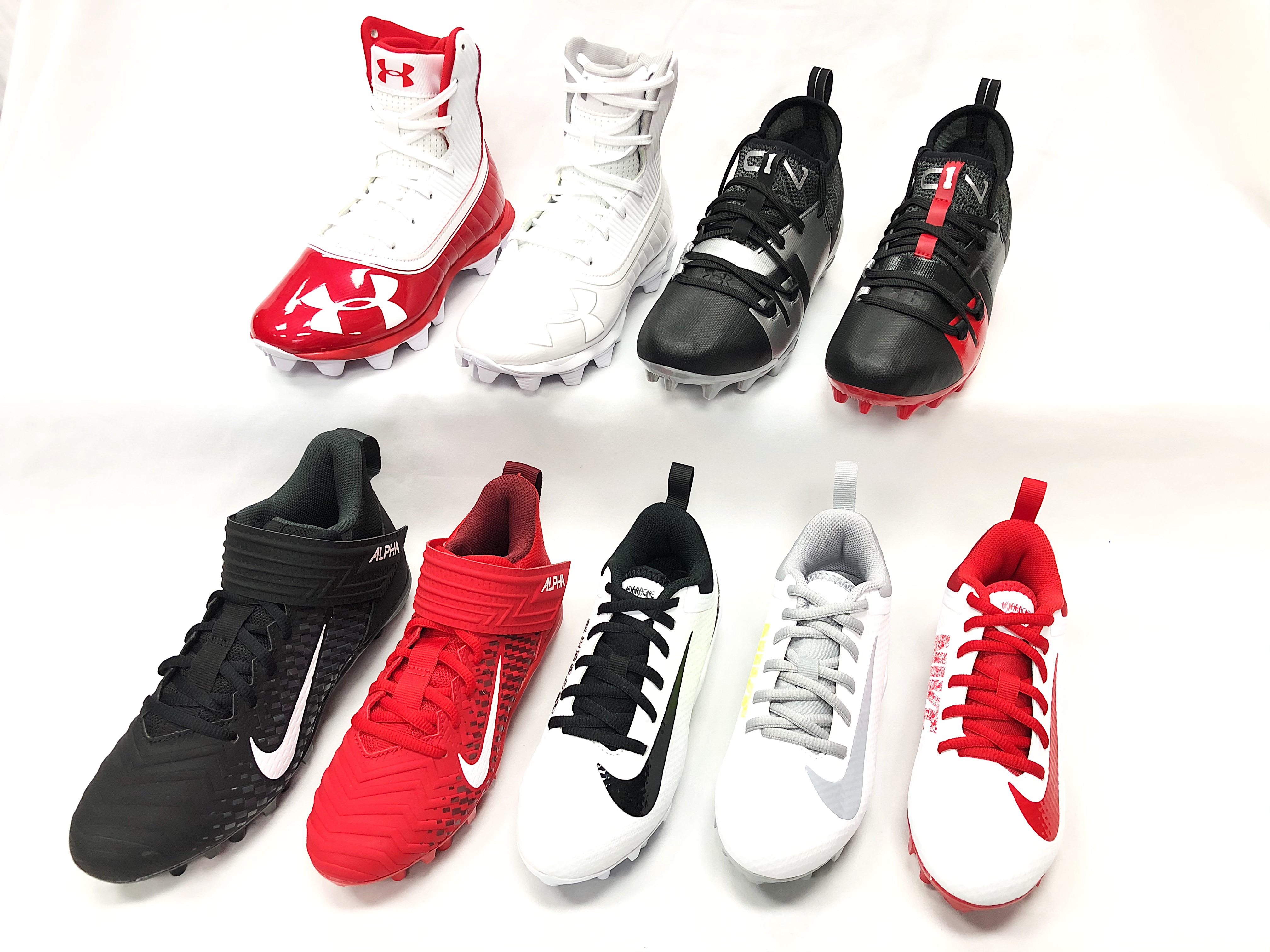 Nike & Under Armour Football & Lacrosse Cleats