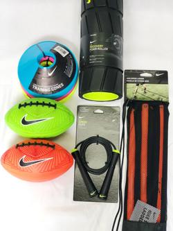 Footballs, Jump Ropes, Cones, etc.