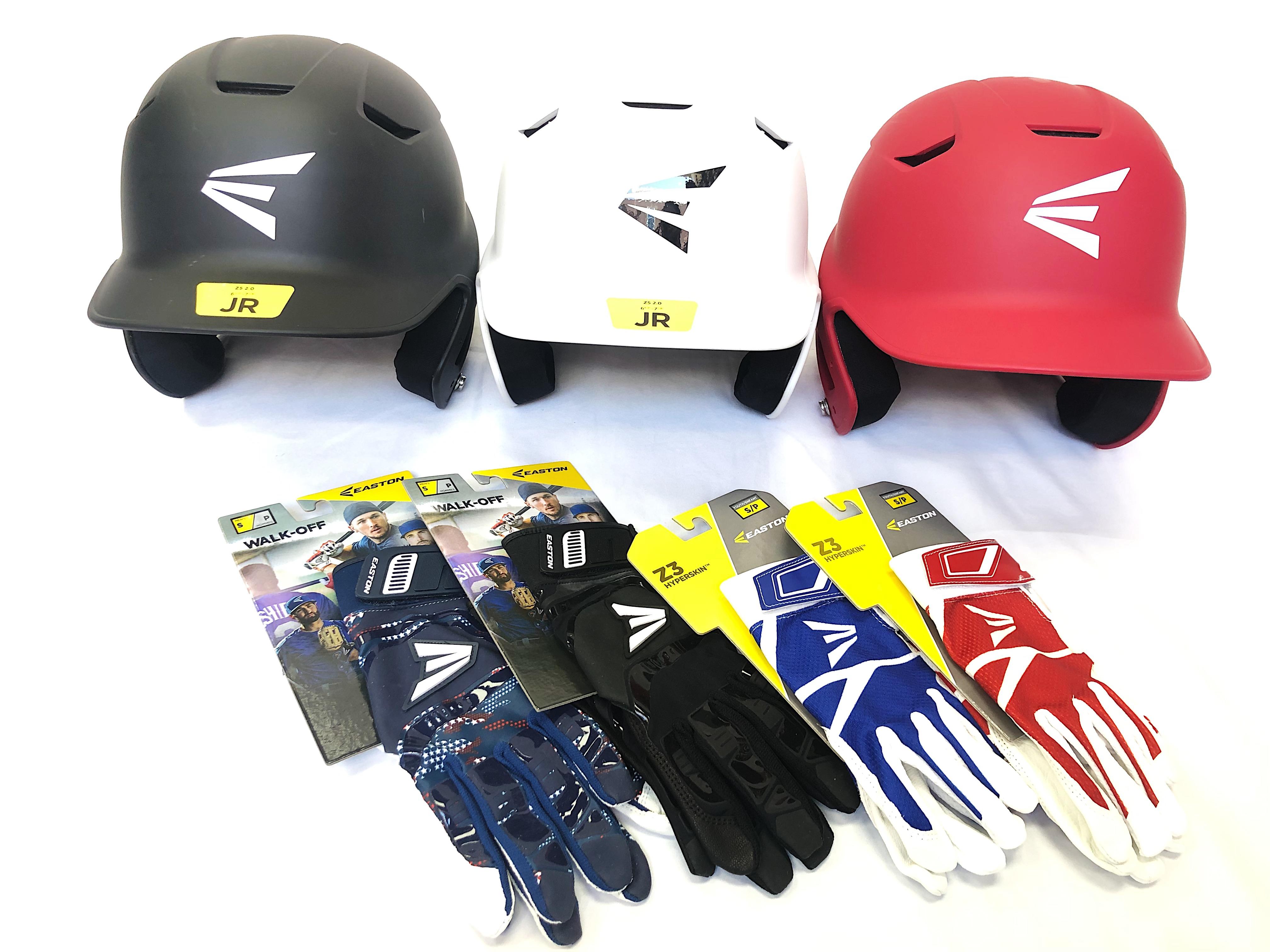 Easton Baseball Helmets & Batting Gloves