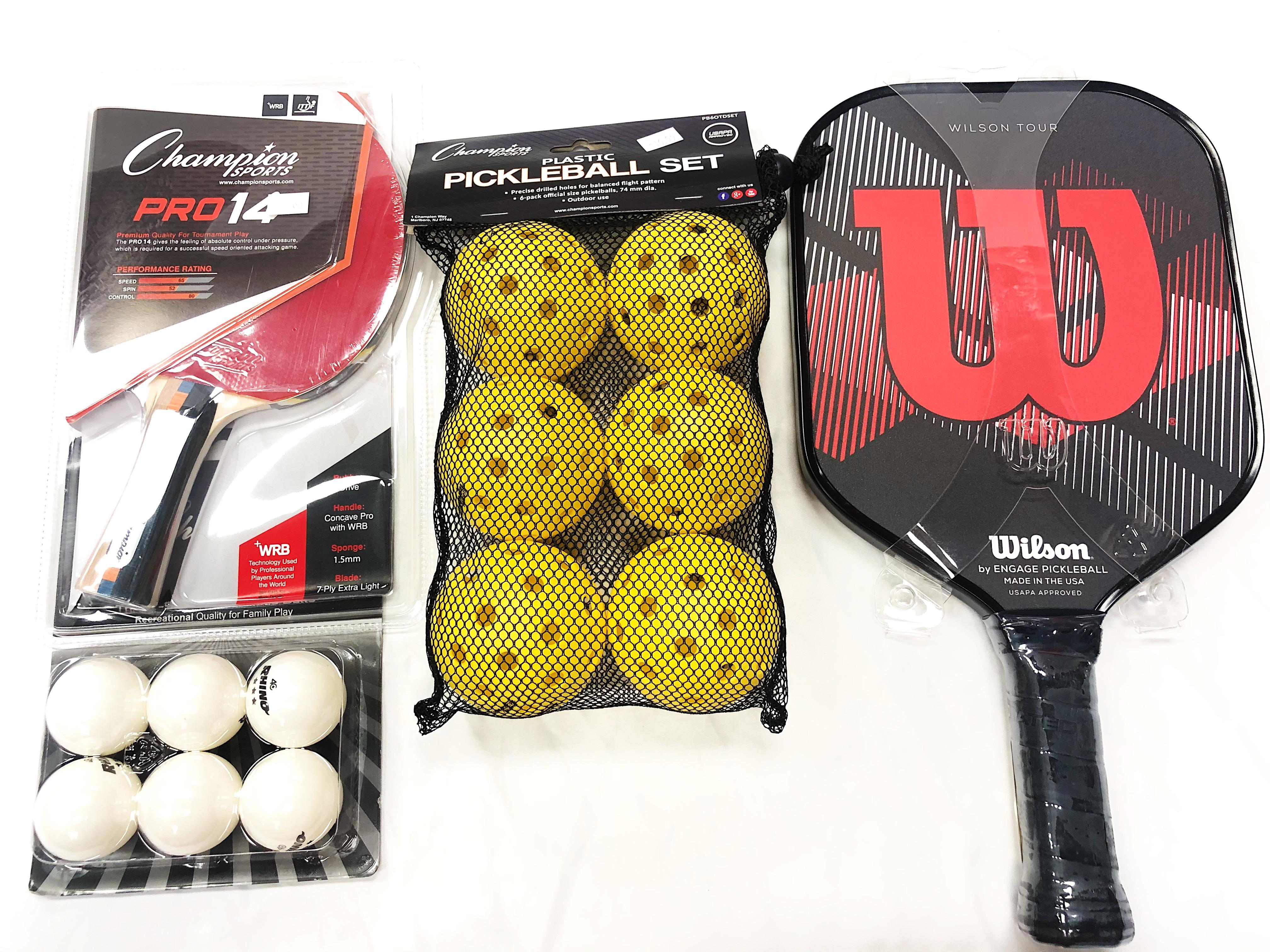 Ping Pong & Pickleball Set