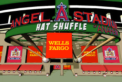 Los Angeles Angels Hat Shuffle