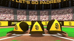 San Diego Padres Hat Shuffle
