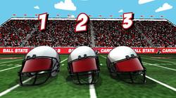 Ball State Helmet Shuffle