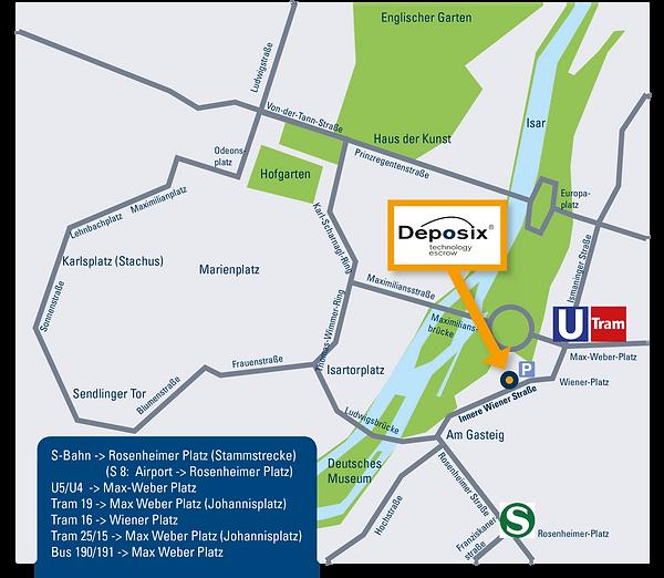 Tavelling directions Deposix Munich