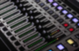 picture of a sound desk close up