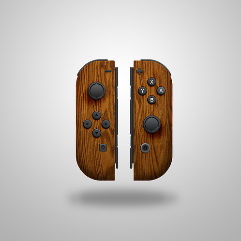 Wood Effect Nintendo Switch controller or shell