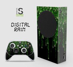 Series S - Digital Rain vinyl skin