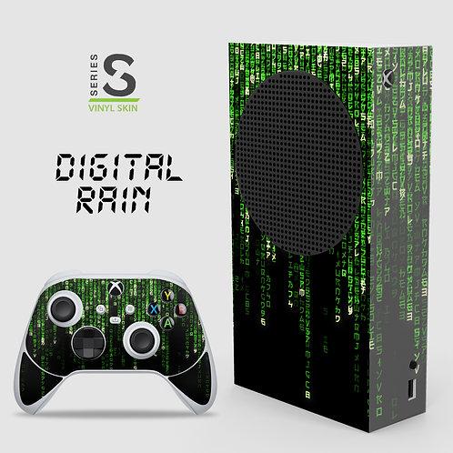 Digital Rain - Xbox Series S vinyl skin