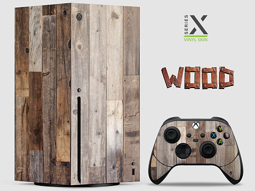 Wood Effect - Xbox Series X vinyl skin