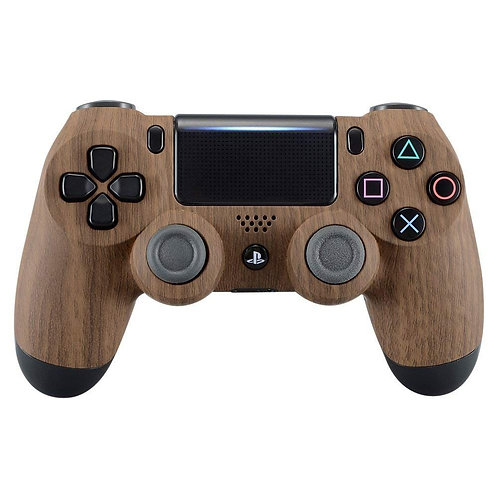 Wood Grain Playstation 4 (PS4) controller or faceplate
