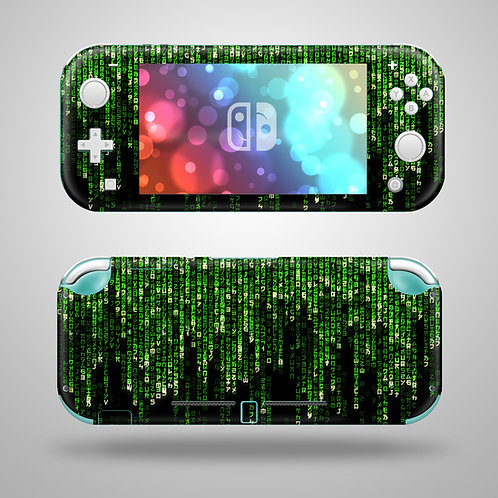 Digital Rain - Nintendo Switch Lite vinyl skin