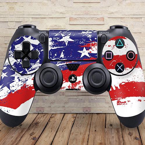 USA Flag - PS4 controller vinyl skin