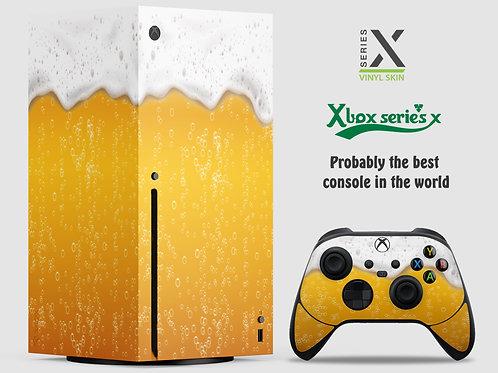 Beer - Xbox Series X vinyl skin