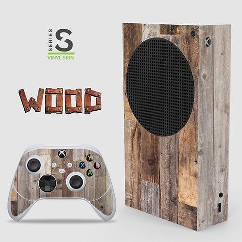 Wood Effect - Xbox Series S vinyl skin
