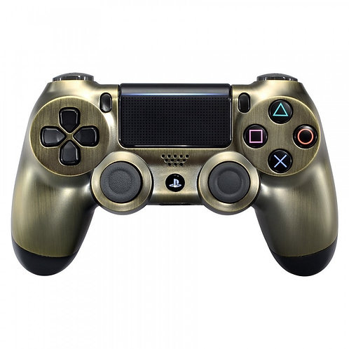 Antique Bronze effect Playstation 4 (PS4) controller or faceplate