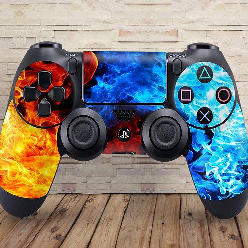 Flames - PS4 controller vinyl skin