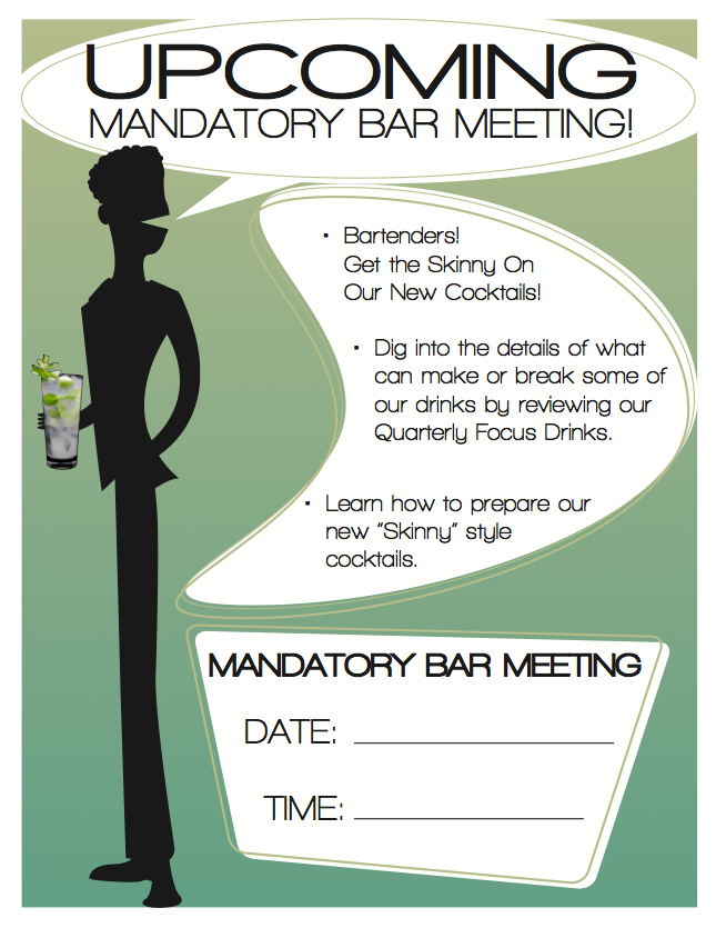 Meeting announcement poster.